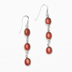 Red Carnelian Multi-Stone Earrings