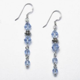 Light Purple Crystal Earrings