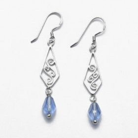 Crystal Earrings with Celtic Design