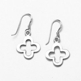 Sterling Silver Clover Earrings