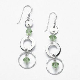 Crystal Earrings with Sterling Silver