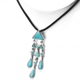 Unique Turquoise Pendant with Sterling Silver