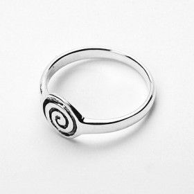 Celtic Swirl Sterling Silver Ring