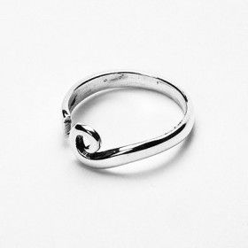 Swirl of Sterling Silver Ring