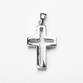 Dual Layered Sterling Silver Cross
