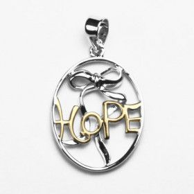 Rhodium & Gold Plated Hope Pendant