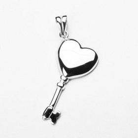 Key to Your Heart Sterling Pendant