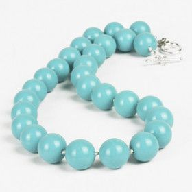 Natural Turquoise Beaded Necklace
