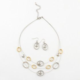 Fun Silver & Gold Hoops Fashion Set