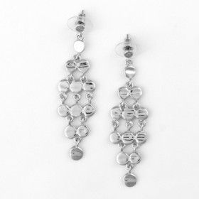 Silver Cascade Fashion Earrings
