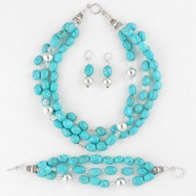 Layers of Turquoise Necklace Set