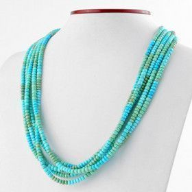 5 Strands of Turquoise Layered Necklace