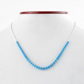 Dainty Turquoise and Silver Necklace