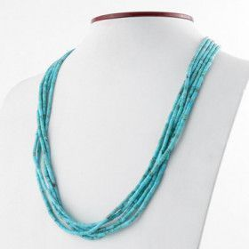 Layered Heishi Beads Turquoise Necklace