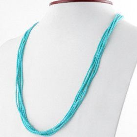 Created Turquoise Layered Necklace