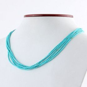 Created Turquoise Fashion Necklace