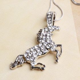 Sparkly Horse With Chrystals Pendant