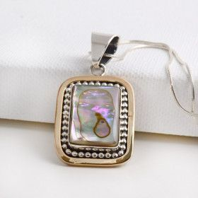 Abalone pendants square abalone pendant mozeypictures Image collections