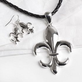 Fleur de Lis Fashion Jewelry Set