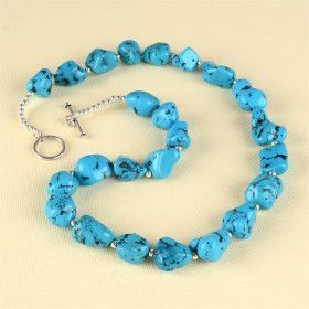Nuggets of Turquoise Toggle Necklace