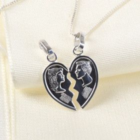 Couple's Heart Pendant