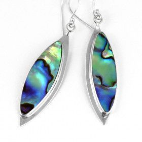 Abalone Shell Hook Earrings