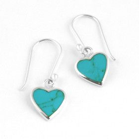 Simple Turquoise Heart Earrings