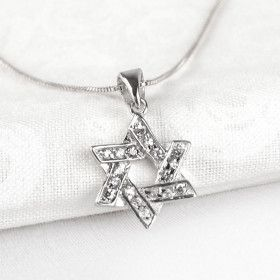 Small Sparkly Star of David Pendant