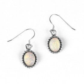 Small Oval Opal Earrings