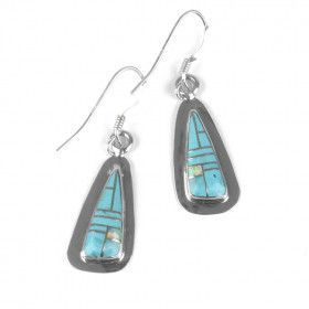 Turquoise with Opal Earrings