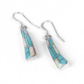 Turquoise & Opal Earrings