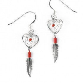 Heart Shaped Dreamcatcher Earrings