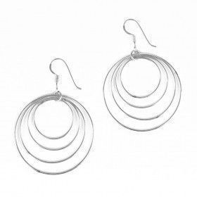 4 in 1 Silver Hoop Earrings