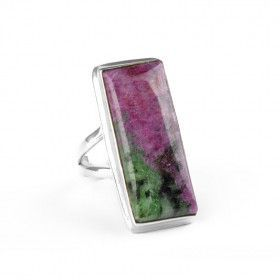 Rectangle Ruby-Zoisite Ring