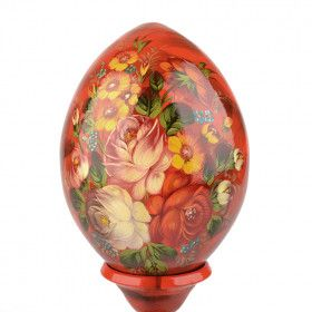 Botanic Wooden Egg with Stand