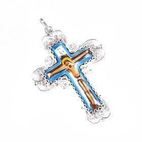 Russian Enamel Crucifix