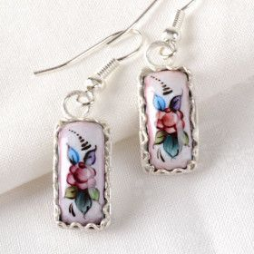 Light Pink Finift Earrings