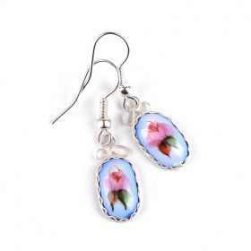 Small Blue Finift Earrings