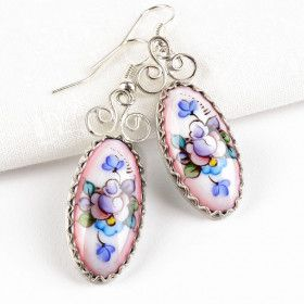Oval Rostov Enamel Earrings