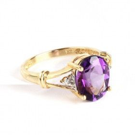 Amethyst in 14K Gold Ring