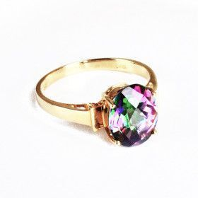 14K Gold Mystic Topaz Ring