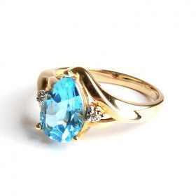 Aquamarine Teardrop Ring