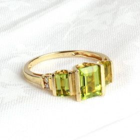 Peridot Ring in 14K Gold