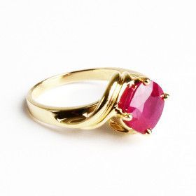 Fancy Ruby & 14K Gold Ring