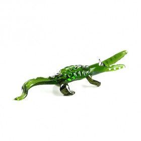Alligator Glass Figurine