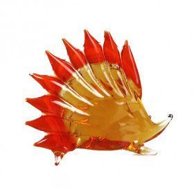 Porcupine Glass Figurine