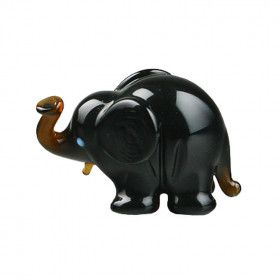 Little Elephant Glass Figurine