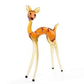 Baby Deer Glass Figurine
