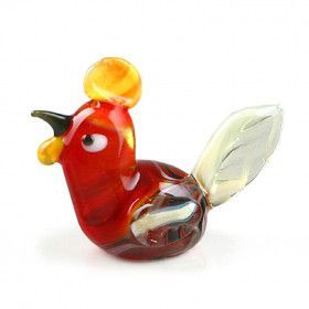 Chicken Glass Figurine