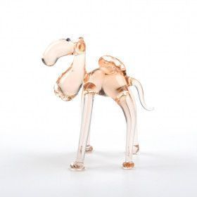 Miniature Camel Glass Figurine